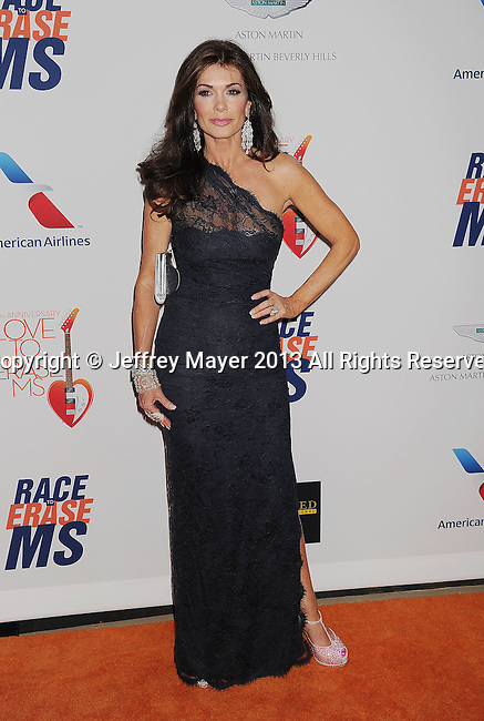 CENTURY CITY, CA- MAY 03: TV personality Lisa Vanderpump  arrives at the 20th Annual Race To Erase MS Gala 'Love To Erase MS' at the Hyatt Regency Century Plaza on May 3, 2013 in Century City, California.