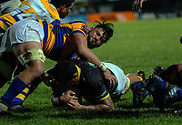 Isaia Walker-Leawere scores Wellington's second try during the Mitre 10 Cup rugby union match between Bay of Plenty and Wellington at Rotorua International Stadium in Rotorua, New Zealand on Thursday, 31 August 2017. Photo: Dave Lintott / lintottphoto.co.nz