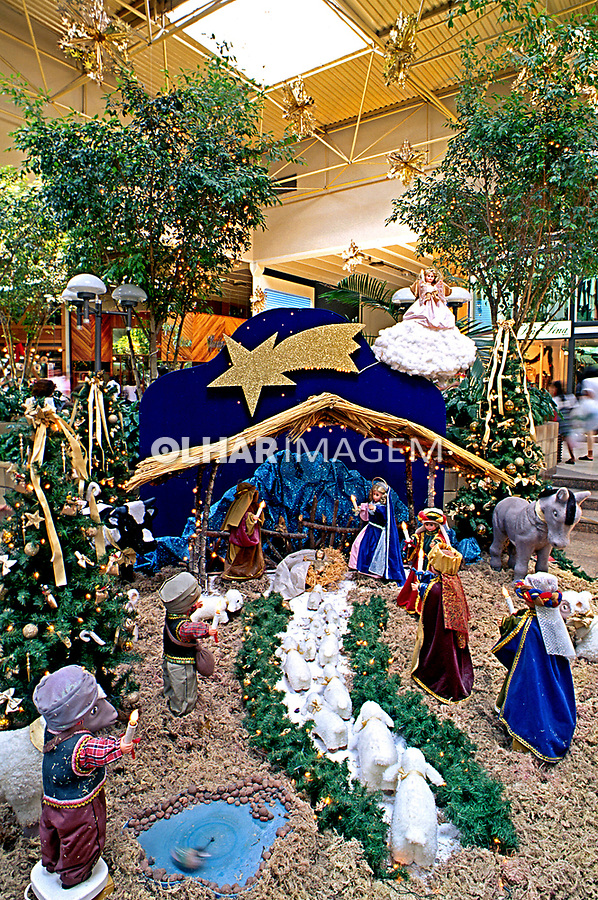 Presépio de natal, Shopping Center Norte. SP. 1994. Foto de Manuel Lourenço.