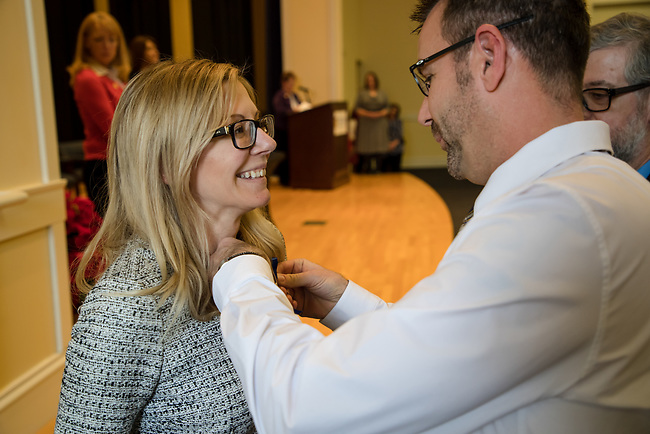 Stacey Keliher  Midway Nurses Pinning , Friday Dec. 15, 2017  in Midway, Ky. Photo by Mark Mahan