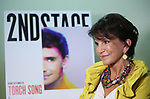 Merecedes Ruehl attends the Off-Broadway cast photo call for 'Torch Song' on September 19, 2017 at the Second Stage Rehearsal Studios in New York City.