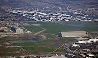 Aerial of Marine Corps Air Station El Toro in Orange County California