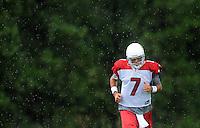 Jul 31, 2009; Flagstaff, AZ, USA; Arizona Cardinals quarterback (7) Matt Leinart during training camp on the campus of Northern Arizona University. Mandatory Credit: Mark J. Rebilas-