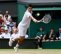 Novak Djokovic (SRB) (3) against Tomas Berdych (CZE) (12) in the Semi-Finals of the gentlemen's singles. Tomas Berdych beat Novak Djokovic 6-3 7-6 6-3..Tennis - Wimbledon Lawn Tennis Championships - Day 11 Fri 2nd July 2010 -  All England Lawn Tennis and Croquet Club - Wimbledon - London - England..© FREY - AMN IMAGES  Level 1, Barry House, 20-22 Worple Road, London, SW19 4DH.TEL - +44 (0) 20 8947 0100.Email - mfrey@advantagemedianet.com.www.advantagemedianet.com