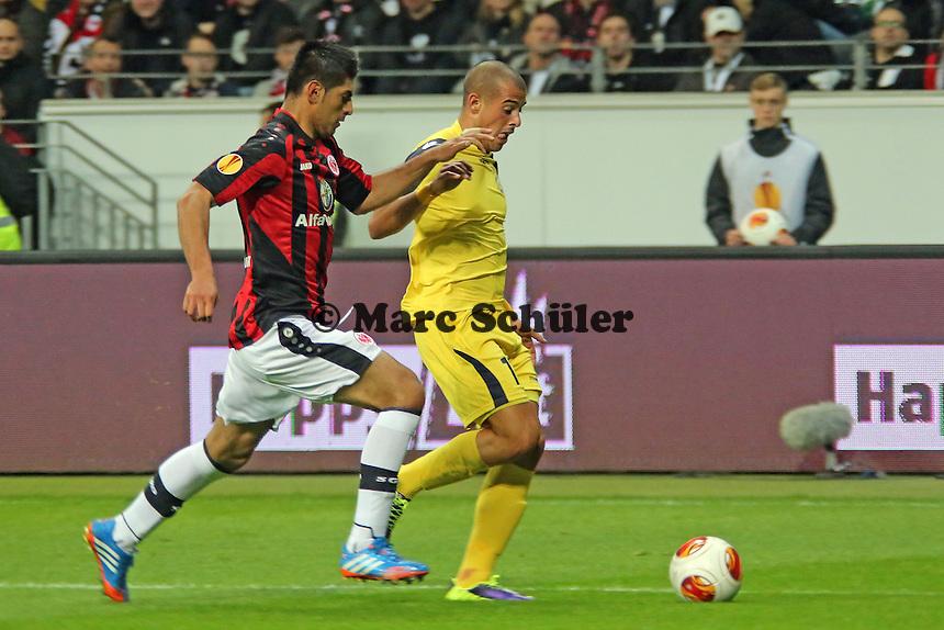 Tal Ben Haim (Tel Aviv) gegen Carlos Zambrano (Eintracht) - Eintracht Frankfurt vs. Macabi Tel Aviv, Europa League 3. Spieltag
