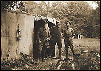 BNPS.co.uk (01202 558833)<br /> Pic: Pen&amp;Sword/BNPS<br /> <br /> Ivan&rsquo;s colleagues Sergeant T. Comfort, Bert Haddon and Frederick Roper at the improvised darkroom &lsquo;Kodak House&rsquo; in the grounds of Château de Relingue, Lillers, 1915.<br /> <br /> A poignant collection of images which were taken by a photographer who documented the graves of fallen soldiers on the Western Front have come to light in a new book.<br /> <br /> Ivan Bawtree was one of only three professional photographers assigned to the the Graves Registration Units to photograph and record the graves of fallen First World War soldiers on behalf of grieving relatives. <br /> <br /> His powerful photos of northern France and Flanders are a haunting reminder of the horrors of war and a fascinating insight into the early work of the Imperial War Graves Commission. <br /> <br /> Prior to the First World War, the casualties of war were generally buried in unmarked mass graves.