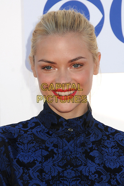 Jaime King.CBS, CW, Showtime 2012 Summer TCA Party held at The Beverly Hilton Hotel, Beverly Hills, California, USA..July 29th, 2012.headshot portrait red lipstick black blue print  .CAP/ADM/BP.©Byron Purvis/AdMedia/Capital Pictures.