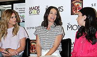 June 04, 2019 Denise Albert, Melissa Gerstein of The MOMS host a Mamarazzi event with Evangeline Lilly to celebrate release of her new children's book The Squickerwonkers  at Sephora 34th Street store in New York June 04, 2019  <br /> CAP/MPI/RW<br /> ©RW/MPI/Capital Pictures