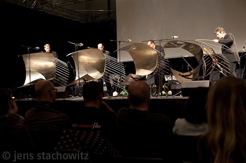 Auftritt des Stahlquartetts aus Dresden, performance  by the Stahlquartett form Dresden