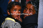 Grandmother and grandchild in Indian Himalays, in U.P.