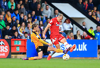 Luke berry makes last ditch tackle during the Sky Bet League 2 match between Cambridge United and Grimsby Town at the R Costings Abbey Stadium, Cambridge, England on 15 October 2016. Photo by PRiME Media Images.