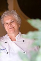 Portrait of chef Angela Ceriello from the restaurant E Curti in Santa Anastasia, Italy