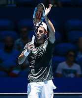 5th January 2020; RAC Arena, Perth, Western Australia; ATP Cup Australia, Perth, Day 3; Italy versus Norway; Stefano Travaglia of Italy applauds the fans after defeating Viktor Durasovic of Norway 2 sets to love - Editorial Use