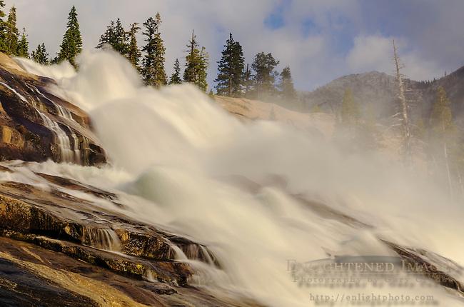 Waterwheels in LeConte Falls, Tuolumne River, Yosemite National Park, California