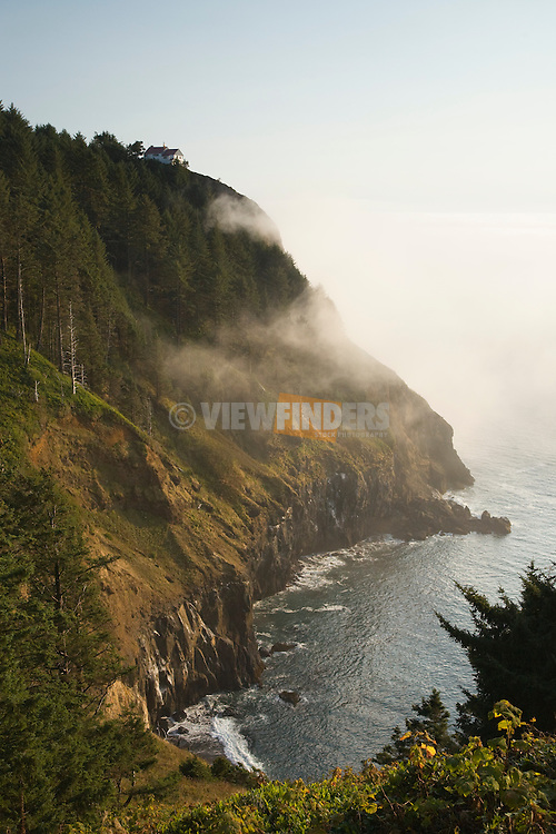 View of Cape Foulweather in Fog
