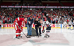 January 5, 2010: Ceremonial puck drop prior to the USA Hockey  exhibition women's hockey game against the Wisconsin Badgers at the Kohl Center in Madison, Wisconsin on January 5, 2010.   Team USA won 9-0. (Photo by David Stluka)