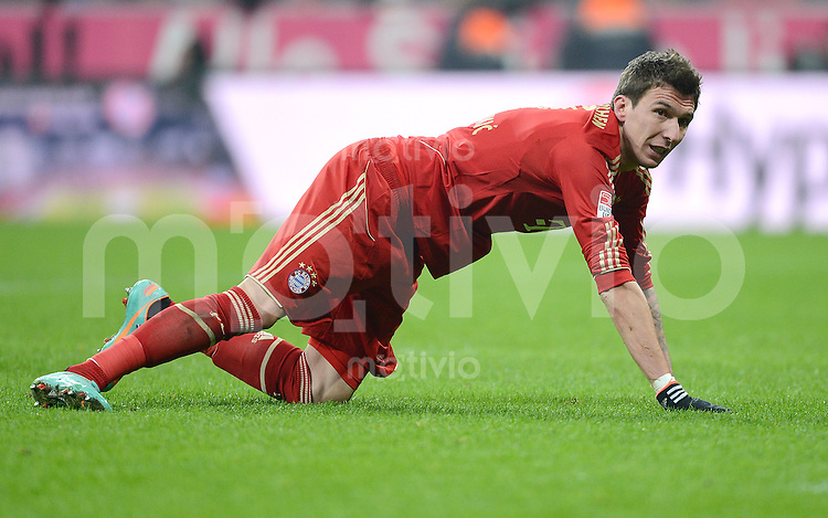 FUSSBALL   1. BUNDESLIGA  SAISON 2012/2013   15. Spieltag FC Bayern Muenchen - Borussia Dortmund     01.12.2012 Mario Mandzukic (FC Bayern Muenchen)