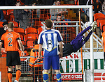 Cillian Sheridan's free-kick sails past United keeper Radoslaw Cierzniak for the opening goal