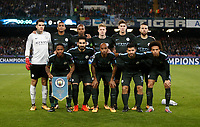 Football Soccer: UEFA Champions League Napoli vs Mabchester City San Paolo stadium Naples, Italy, November 1, 2017. <br /> Chelsea's teamline up prior to the start of the Uefa Champions League football soccer match between Napoli and Manchester City at San Paolo stadium, November 1, 2017.<br /> UPDATE IMAGES PRESS/Isabella Bonotto