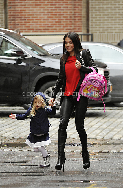 ACEPIXS.COM<br /> <br /> October 23 2014, New York City<br /> <br /> TV personality Bethenny Frankel picks up her daughter Bryn Hoppy from school on October 23 2014 in New York City<br /> <br /> By Line: Curtis Means/ACE Pictures<br /> <br /> ACE Pictures, Inc.<br /> www.acepixs.com<br /> Email: info@acepixs.com<br /> Tel: 646 769 0430