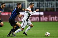 Stefan De Vrij of Internazionale , Cristiano Ronaldo of Juventus <br /> Milano 27-04-2019 Stadio Giuseppe Meazza <br /> Football Serie A 2018/2019 FC Internazionale - Juventus FC <br /> photo Image Sport / Insidefoto