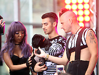 NEW YORK, NY-August 26: JinJoo Lee, Joe Jonas, Cole Whittle of DNCE performed NBC's Today Show Citi Concert Series at Rockefeller Center in New York. NY August 26, 2016. Credit:RW/MediaPunch