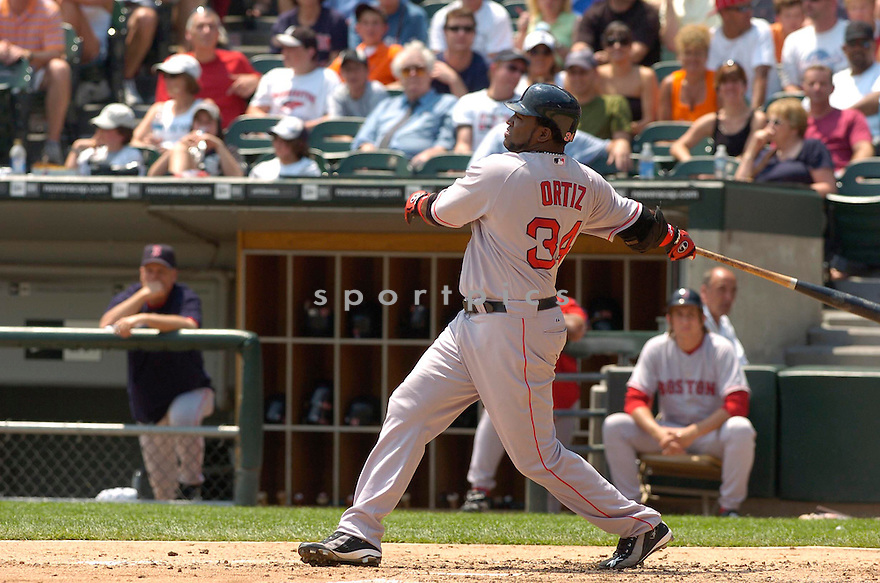 David Ortiz, of the Boston Red Sox, during their game against the Chicago White Sox on July 8, 2006 in Chicago...Red Sox win 9-6..David Durochik / SportPics