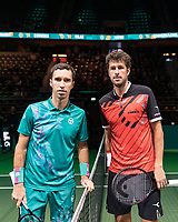 Rotterdam, The Netherlands, 11 Februari 2019, ABNAMRO World Tennis Tournament, Ahoy, first round match: Mikhail Kukushkin (KAZ) - Robin Haase (NED),<br /> Photo: www.tennisimages.com/Henk Koster