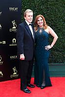 PASADENA - APR 29: Doug Llewelyn, Marilyn Milian at the 45th Daytime Emmy Awards Gala at the Pasadena Civic Center on April 29, 2018 in Pasadena, California