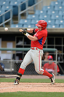 Travis Blankenhorn (3) of Pottsville Area High School in Pottsville, Pennsylvania playing for the Philadelphia Phillies scout team during the East Coast Pro Showcase on July 30, 2014 at NBT Bank Stadium in Syracuse, New York.  (Mike Janes/Four Seam Images)