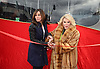 "Melissa Rivers and Joan Rivers honored by Gray Line New York with a ""Ride of Fame"" bus with their name on a decal in the front of the bus on March 1, 2013 at Pier 78 in New York City."
