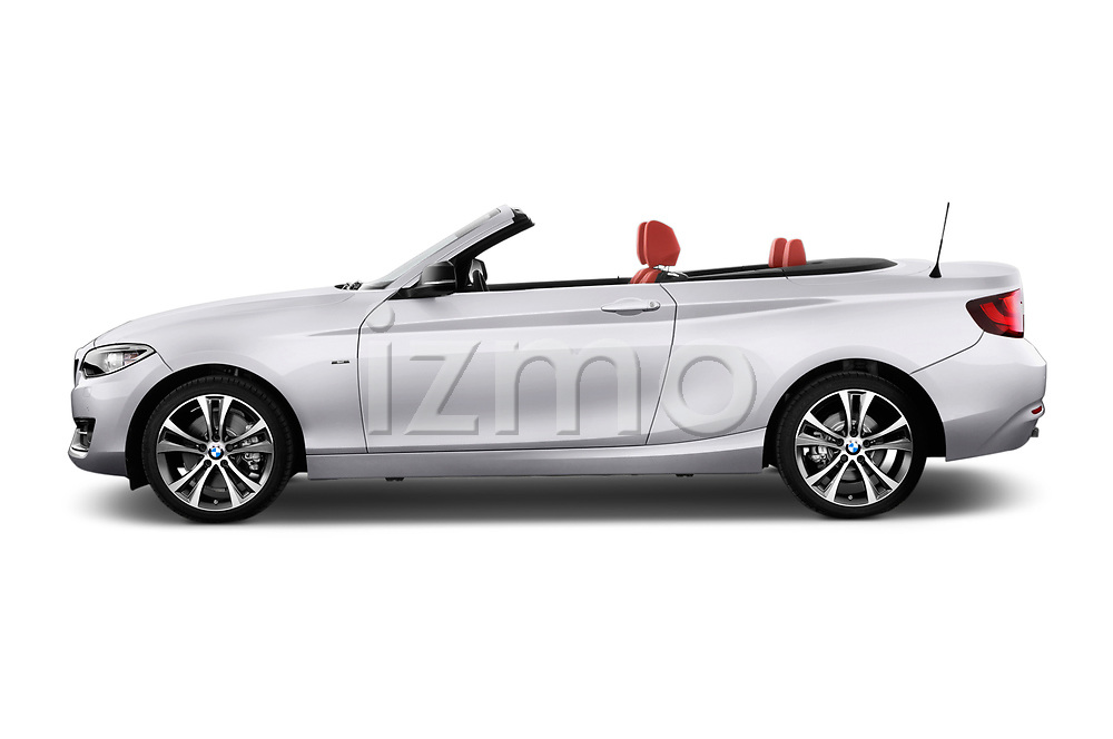 Car driver side profile view of a 2015 BMW 2 Series  Sport 2 Door Convertible