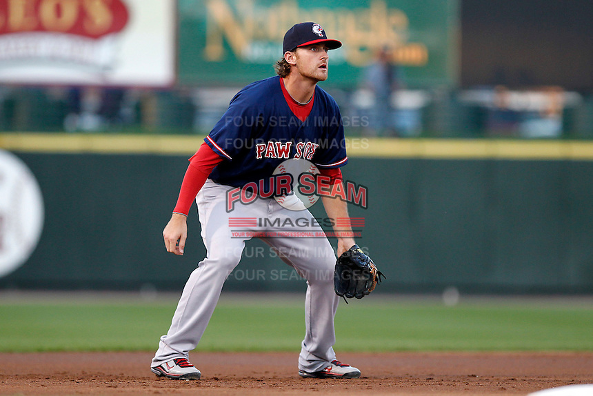 Pawtucket Red Sox third baseman Will Middlebrooks #24 in the field during a game against the Rochester Red Wings at Frontier Field on August 30, 2011 in Rochester, New York.  Rochester defeated Pawtucket 8-6.  (Mike Janes/Four Seam Images)
