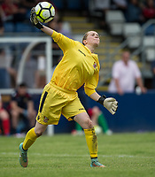 Goalkeeper Katherine Long of Stevenage Ladies during the pre season friendly match between Stevenage Ladies FC and Watford Ladies at The County Ground, Letchworth Garden City, England on 16 July 2017. Photo by Andy Rowland / PRiME Media Images.