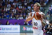 7th September 2017, Fenerbahce Arena, Istanbul, Turkey; FIBA Eurobasket Group D; Latvia versus Turkey; Forward Janis Timma #10 of Latvia in action