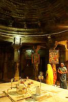 inside Shiva Temple in village below Fort Amber near Jaipur, Rajastan, India.