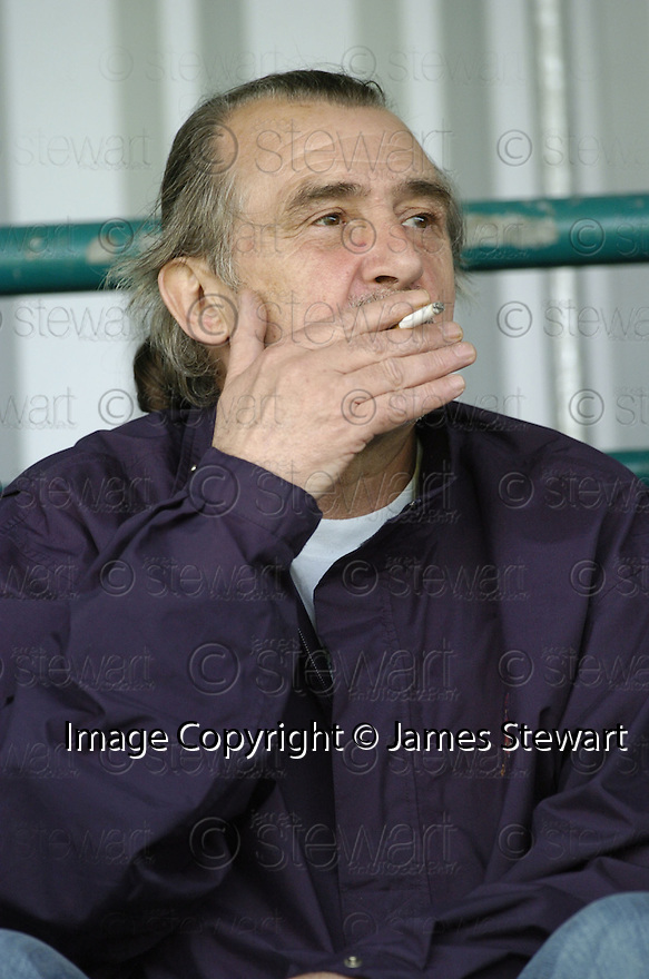 21/04/2007       Copyright Pic: James Stewart.File Name : sct_jspa04_gretna_v_clyde.BROOKS MILESON ENJOYS AN ILLEGAL CIGARETTE IN THE BACK OF THE STAND.James Stewart Photo Agency 19 Carronlea Drive, Falkirk. FK2 8DN      Vat Reg No. 607 6932 25.Office     : +44 (0)1324 570906     .Mobile   : +44 (0)7721 416997.Fax         : +44 (0)1324 570906.E-mail  :  jim@jspa.co.uk.If you require further information then contact Jim Stewart on any of the numbers above.........