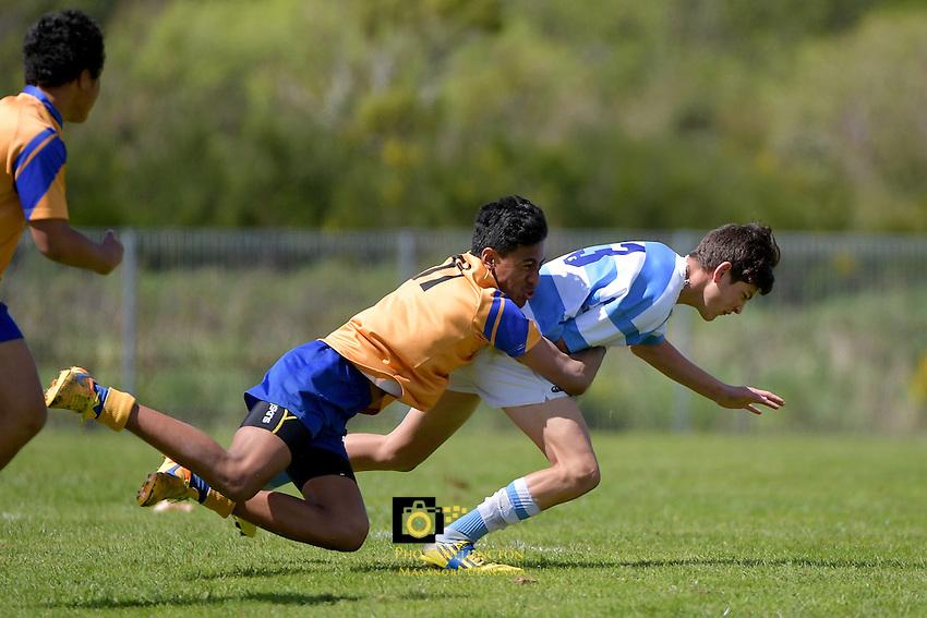 Rugby League Johnny Lomax Cup U15 Final - Rongotai College v Silverstream at Wainuiomata High School, Lower Hutt, New Zealand on Saturday 22 October 2016.<br /> Photo by Masanori Udagawa. <br /> www.photowellington.photoshelter.com.