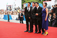 Cast. Chris Messina, David Gordon Green, Al Pacino e Lisa Muskat<br /> Venezia 30/08/2014. Palazzo Del Cinama, Mostra Internazionale d'arte del Cinema di Venezia 2014. Venice Film Festival 2014<br /> Photo Mark Cape/Insidefoto