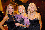 From left: Heather Baker, Carolyn Farb and Leslie Tyler-Fink at the Dominic Walsh Dance Theater's Firebird Soiree at the Four Seasons Hotel Saturday Oct. 17,2009. (Dave Rossman/For the Chronicle)