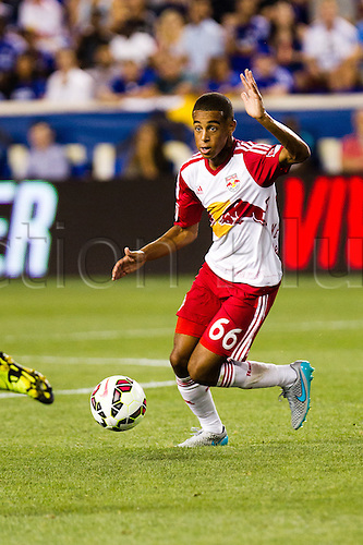 22.07.2015. Harrison, NJ, USA. New York Red Bulls defender Tyler Adams during the International Champions Cup featuring the New York Red Bulls versus the Chelsea Football Club at Red Bull Arena in Harrison, NJ.
