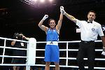 Glasgow 2014 Commonwealth Games<br /> Charlene Jones, Wales (Blue) v Hansika Arachchi, Sri Lanka (Red)<br /> Women's Light (57-60kg)<br /> SECC<br /> 29.07.14<br /> ©Steve Pope-SPORTINGWALES
