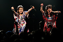 (L to R) Yukarin and Rumiko members of the group ''hy4_4yh'' perform at the ''Harajuku Kawaii Week'' on May 10, 2015, Tokyo, Japan. Various  famous models and idol groups attend the ''Harajuku Kawaii Week 2015'' to promotes the fashion events in Tokyo. The event was held from May 09 to 10. (Photo by Rodrigo Reyes Marin/AFLO)