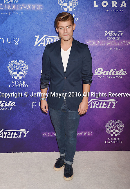 HOLLYWOOD, CA - AUGUST 16: Actor Ryan Guzman arrives at Variety's Power Of Young Hollywood at NeueHouse Hollywood on August 16, 2016 in Los Angeles, California.