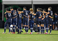LAKE BUENA VISTA, FL - JULY 26: The Sporting KC players look on in the shootout during a game between Vancouver Whitecaps and Sporting Kansas City at ESPN Wide World of Sports on July 26, 2020 in Lake Buena Vista, Florida.