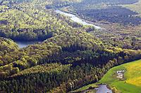 Mischwald, Laubwald, Wald in Norddeutschland, Wald von oben, Luftbild, Luftaufnahme