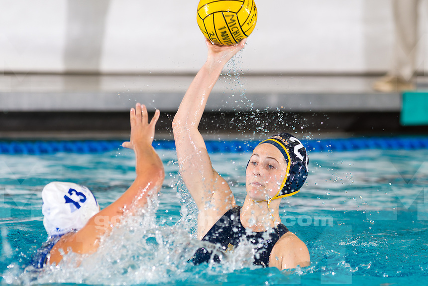 The University of Michigan women's water polo team, 14-8, victory over UC Santa Barbara at Canham Natatorium in Ann Arbor, Mich., on Jan. 31, 2016.