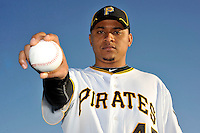 Feb 28, 2010; Bradenton, FL, USA; Pittsburgh Pirates  pitcher Jose Ascanio (45) during  photoday at Pirate City. Mandatory Credit: Tomasso De Rosa/ Four Seam Images