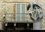 She-Wolf of Siena, Lupa, Romulus and Remus, Giuliano Vangi, Piazza di Postierla, Siena, Italy