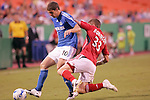 July 1 2007:  Carl Robinson (33) of Toronto FC attempts to separate Carlos Marinelli (10) of the Wizards from the ball with a slide tackle.  The MLS Kansas City Wizards tied the visiting Toronto FC 1-1 at Arrowhead Stadium in Kansas City, Missouri, in a regular season league soccer match.